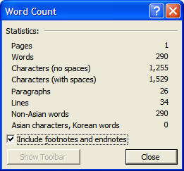 How To Count the Number of Words in Footnotes | Microsoft Word ...